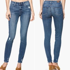 Paige Hoxton Ultra Skinny Ashby Destructed Jeans